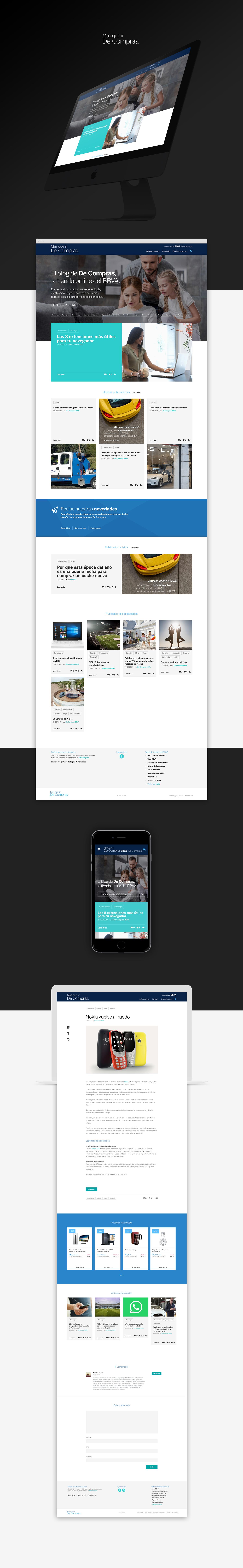 Diseño web responsive · BBVA | Más que ir de compras · Samuel Matito · diseñador freelance